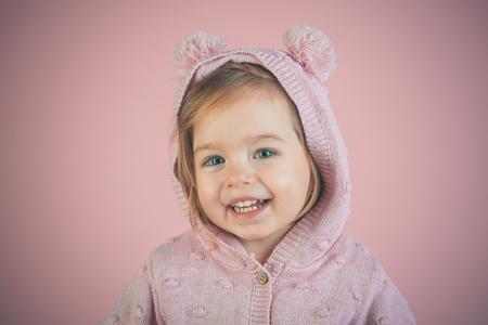 Little stylish beauty. having fun. little girl child smiling. Little treasure. small happy girl. Stock Photo
