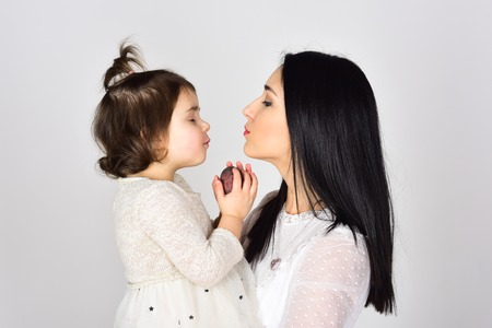 Mothers day. Childrens day. Beauty and fashion. Happy woman with little girl. Mother and daughter. Love and family. they got great style. You are my treasure. Mommy it is time for a break.