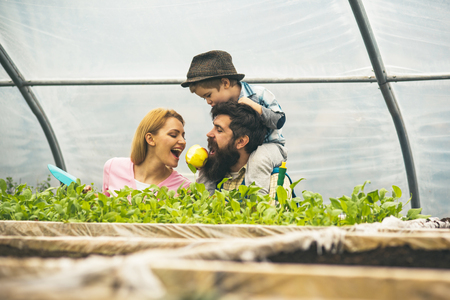 health and ecology. health of family in ecology world. health and ecology concept. health and ecology of young family. everything for your gardening needs