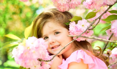 easter. face and skincare. allergy to flowers. Summer girl fashion. Happy childhood. Springtime. weather forecast. Small child. Natural beauty. Childrens day. Little girl in sunny spring