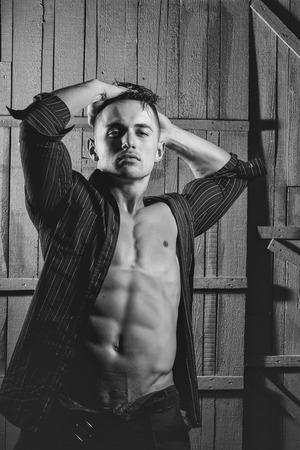 Sexy macho man Zdjęcie Seryjne