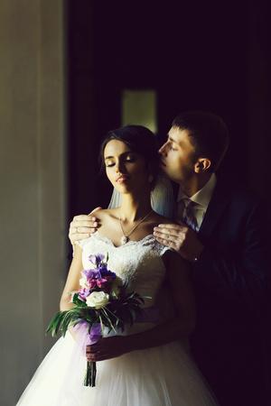 just married couple 版權商用圖片
