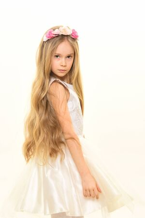 spring fashion. spring fashion for beautiful little girl. spring fashion for kids. beauty and fashion concept. spring is in my heart. Stok Fotoğraf