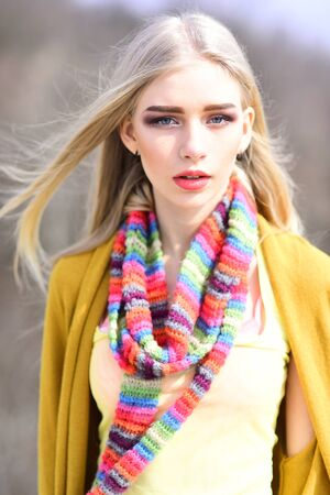 Hip hop girl with fashionable hair. woman maintaining fashion blog. Fashion portrait of woman. Hipster woman with fashion makeup. Beauty and fashion look of vogue model. Funky style beauty