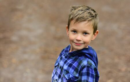 Focus on health. Healthy little boy. Little boy enjoy good health. More activity can greatly improve your health