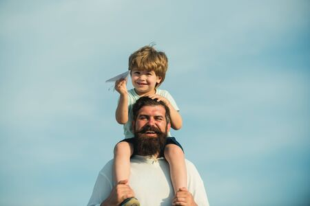 Fathers day. Father and son camping. Happy loving family. Childhood. Parents and child. Family like summer time together.