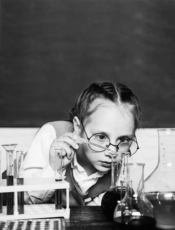Back to school. What is taught in chemistry. School concept. Science and education concept.