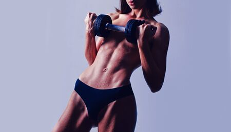 Sexy woman with healthy body. Fit, beautiful and sporty woman. Stockfoto