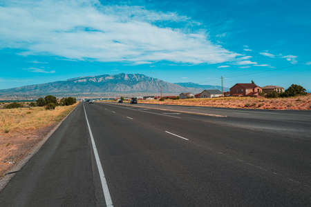 Highway road. Asphalt road panorama in countryside on summer day.