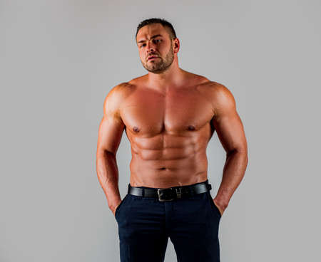 Muscular man with a torso.