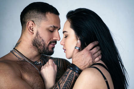 Dissolve into each other. Sensual couple kiss. Couple in Love. Romantic kiss and love. Intimate relationship and sexual relations. Close up mouths kissing. Passion and sensual kiss. Intimacy moments