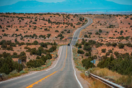 Western road, desert highway of the American southwest.