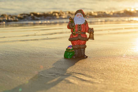 Christmas Santa Claus toy. Holiday and vacation concept.