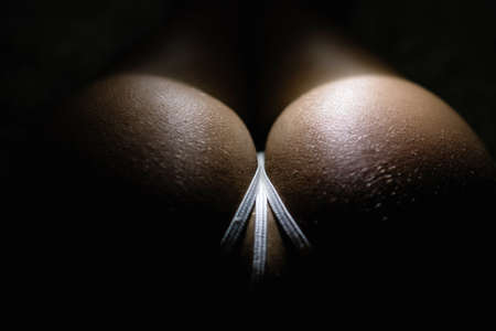 Sexy ass, Perfect buttocks. Anti cellulite remedy. Sexy butt with white lingerie.
