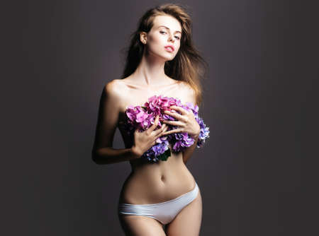 Beautiful tender girl. Beauty woman healthy skin concept natural makeup.