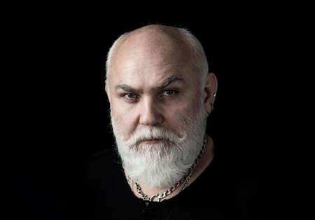 Portrait of a Senior Man. Close up face.