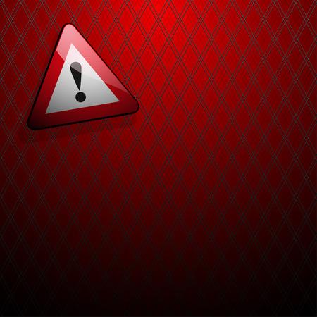 signe de danger avec un point sur un fond rouge dans la grille avant d'exclamation