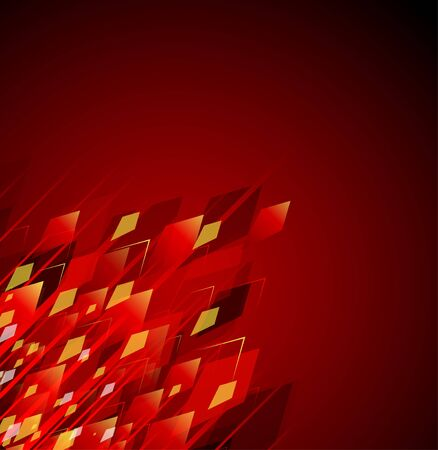 aggressively: Red abstract background with simulations of fire and sparks Illustration
