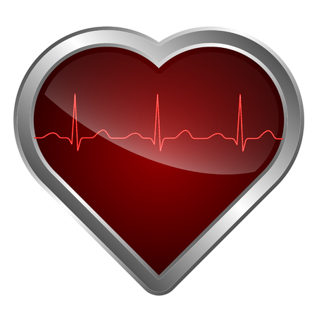 cardiogram: The heart and cardiogram icon with cardiogram symbol.