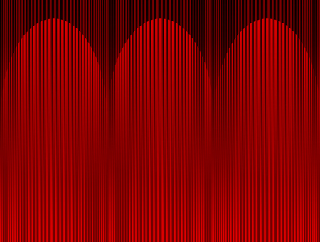 stage projector: abstract embossed red background illuminated with three spotlights