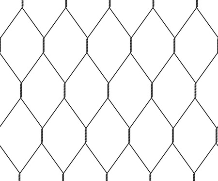 Seamless black wire mesh texture with weave Illustration
