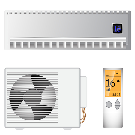 refrigerant: split air conditioner on the wall and outside device