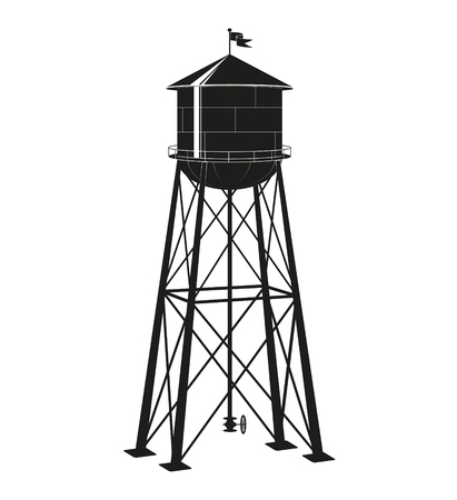 the contour of the old water tower in the United States