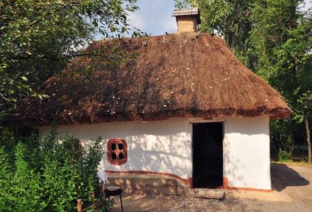 ukrainian: Old Ukrainian House. Old traditional ukrainian rural house
