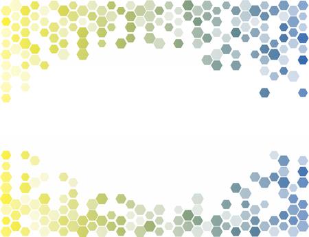 六角形の抽象的な背景。光のベクトル パターン フレーム  イラスト・ベクター素材