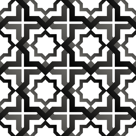 delicate arabic motif: Seamless pattern in islamic style. Vector background Illustration
