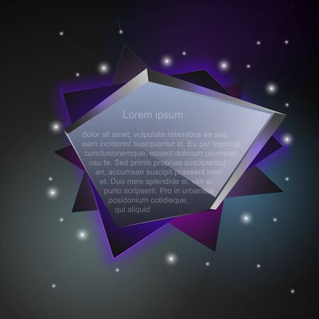 crystal glass: Set of abstract speech balloons or talk bubbles of black crystal glass pattern.