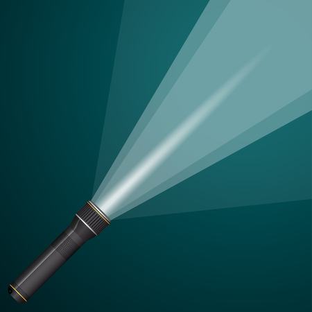 defuse: A beam of light from a flashlight. Illustration