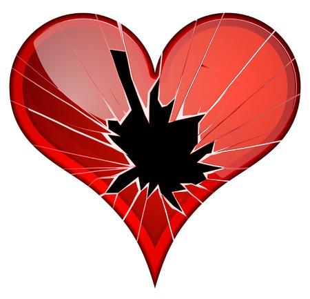 rupture: Broken hearts. Dislike, sadness, shattered, rupture break up themes Vector hearts