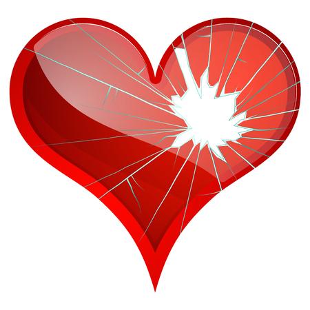Broken hearts. Dislike, sadness, shattered, rupture break up themes Vector hearts