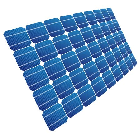 voltaic: Renewable energy. The solar cell shown in perspective.