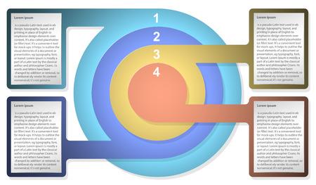 同心円のインフォ グラフィック ダイアグラム テンプレート。Web デザイン、プレゼンテーション、グラフ、チャート、レポート、データの可視化の 写真素材 - 84136163