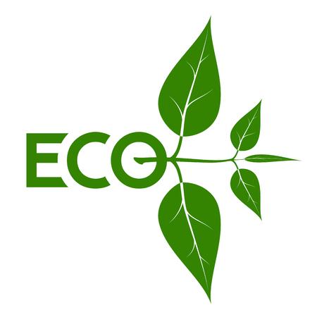 Logo on the theme of ecology. Illustration