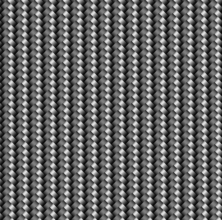 The texture of the carbon cloth is black. Lightweight and durable modern material