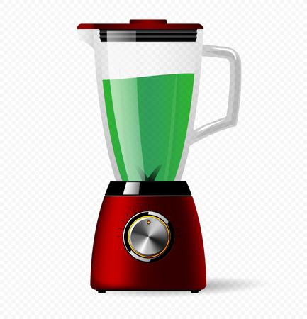 Elektrischer stationärer Küchenmixer mit einer Glasschüssel. Kochen von Smoothies, Cocktails oder Säften.