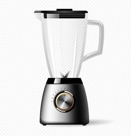 Elektrischer stationärer Küchenmixer mit einer Glasschüssel. Smoothies, Cocktail oder Saft kochen Vektorgrafik