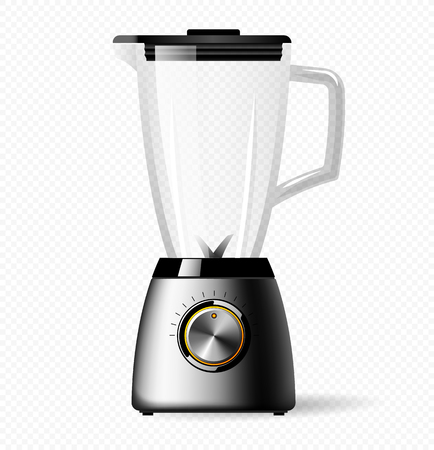 Kitchen electric stationary blender with a glass bowl. Cooking smoothies, cocktail or juice