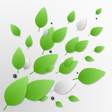 The background image of the green leaves located on Dmagonali. Backdrop for an article on ecology, clean products, spring or summer