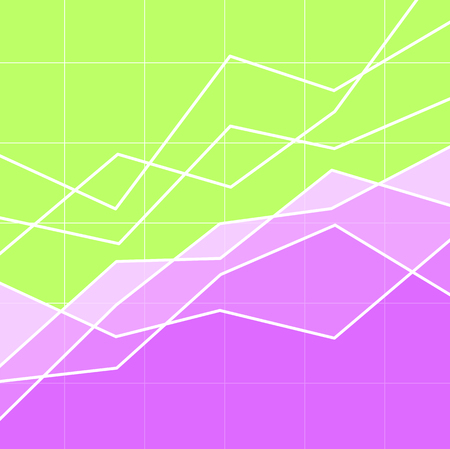 Abstract graph or chart for background or illustration of an article on finance, business or sales. Copy space.  イラスト・ベクター素材