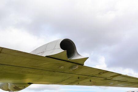 Air intake aircraft. Travel far. Takeoff and landing
