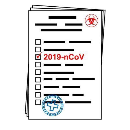 Novel coronavirus - 2019-nCoV, virus concept. 2019-nCoV text. Coronavirus outbreak.