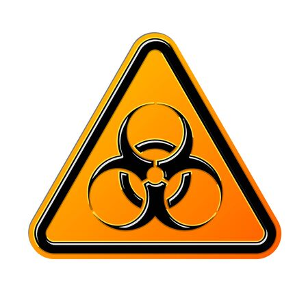 Biohazard symbol sign of biological threat alert