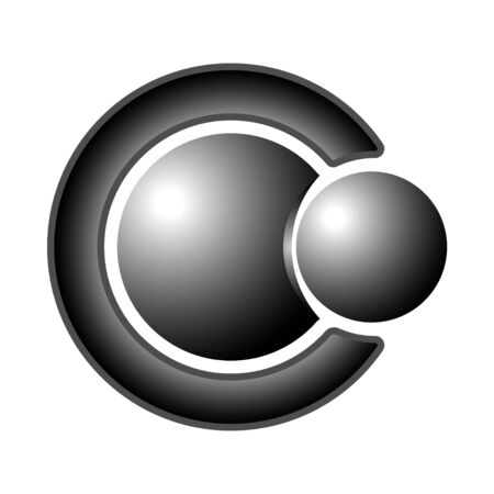 The symbol of two steel balls and the letter C.