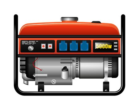 Portable portable electric generator. Power outage. Accident or accident. Spare power supply.