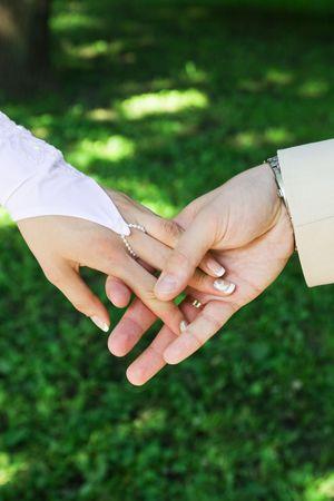 Wedding hands photo