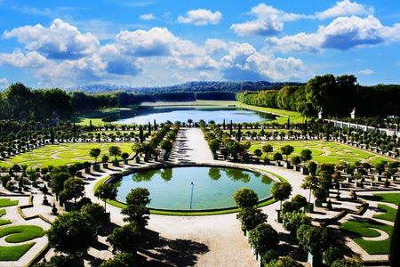 versailles: Versailles, royal garden in Paris Stock Photo